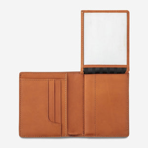 status anxiety wallet nathaniel camel flap id slot