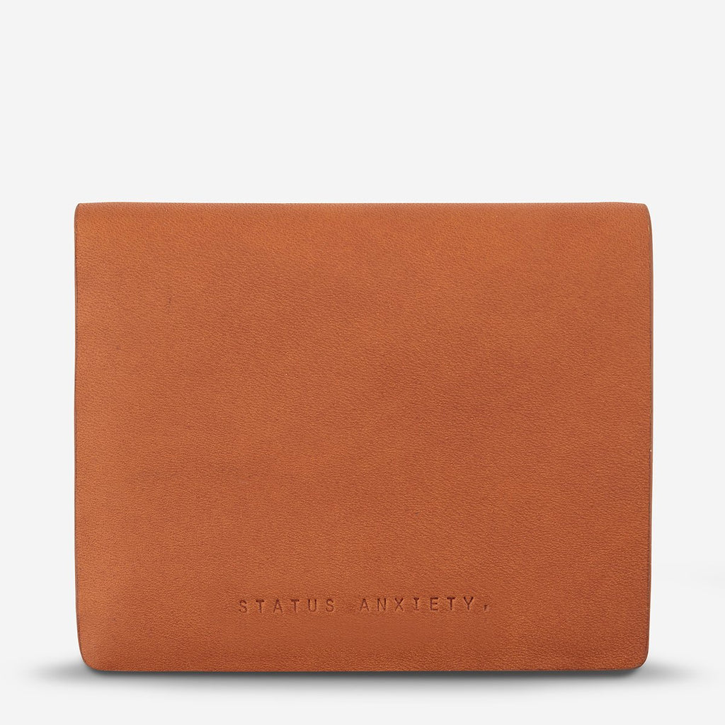status anxiety wallet nathaniel camel front