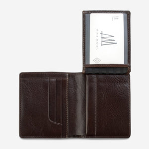 status anxiety wallet chocolate nathaniel flap id slot
