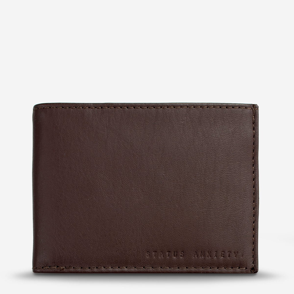 status anxiety wallet noah chocolate front
