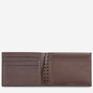 status anxiety wallet noah chocolate open