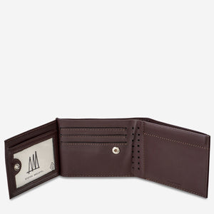status anxiety wallet noah chocolate unbuttoned