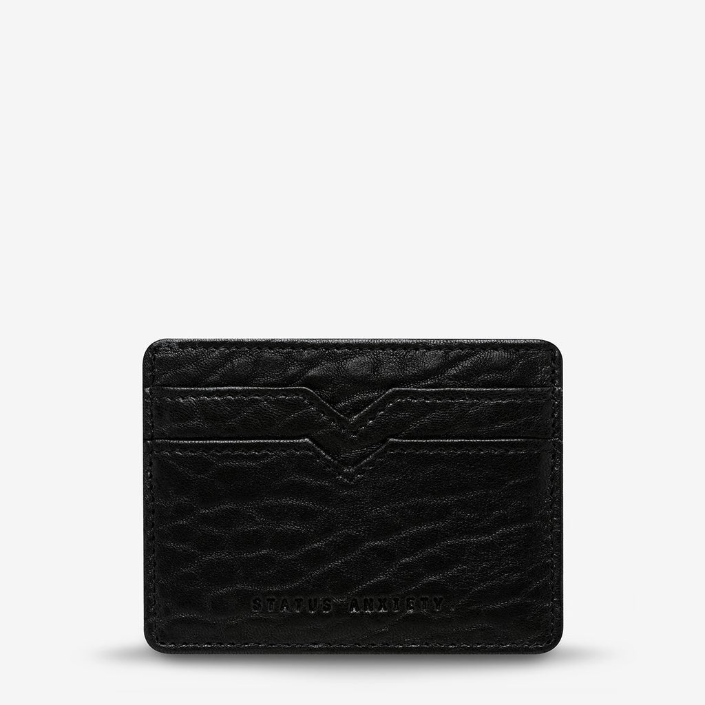 Status anxiety minimal card wallet black bubble leather