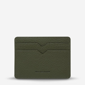 status anxiety wallet together for now khaki green back