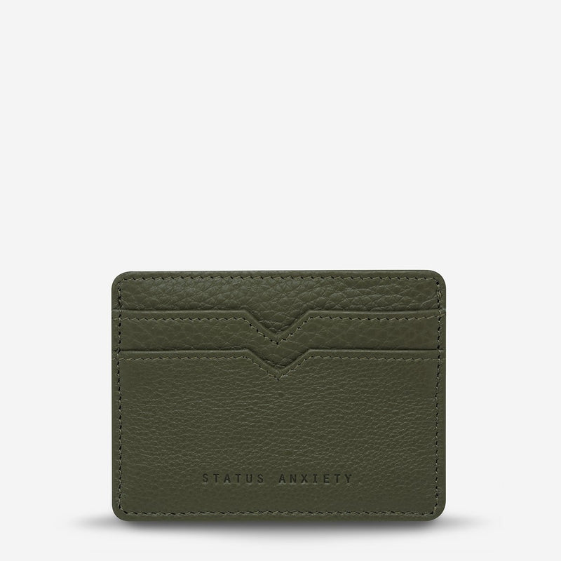 status anxiety wallet together for now khaki green front