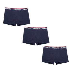 mens pack of boxer briefs organic cotton navy x 3 superdry