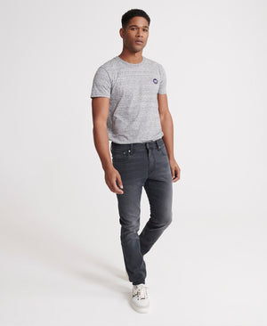 Superdry mens tyler slim jean in portland washed black image2