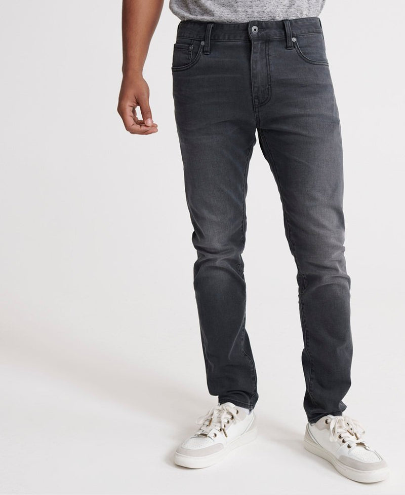 Superdry mens tyler slim jean in portland washed black image1