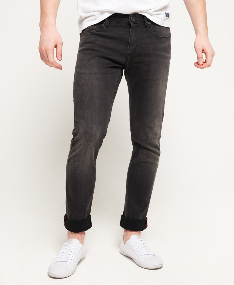superdry tyler slim mens jeans dustpipe black1