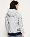 Grey Hooded SD Windtrekker jacket by Superdry back view logo