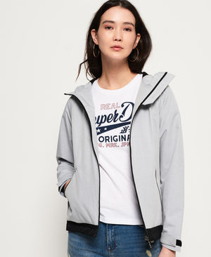 Grey Hooded SD Windtrekker jacket by Superdry