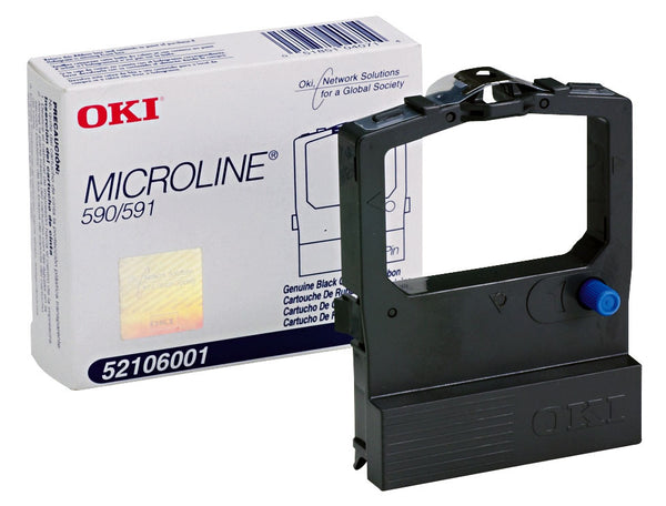 OkiData Ribbon cartridge, 590 Series,  PN: 52106001,  Black