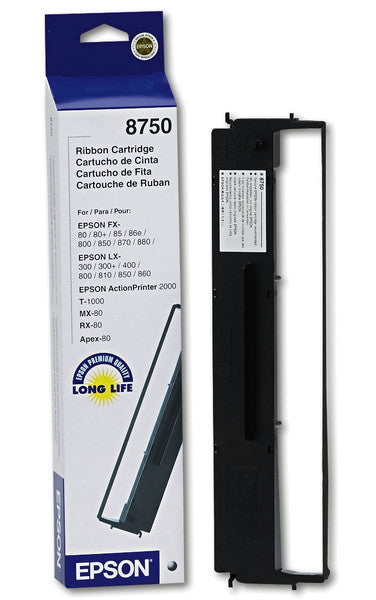Epson Ribbon Cartridge, MX-80, LQ-800, 8750