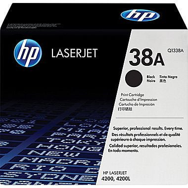 HP Laserjet Cartridge Q1338A, HP 38A, Black