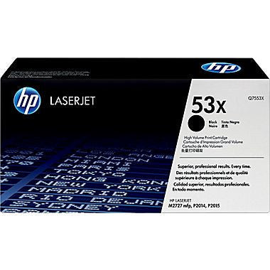 HP Laserjet Cartridge Q7553X, Q7553A, 53X, 53A, Black