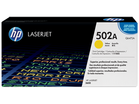 HP color Laserjet Cartridge HP 502A series