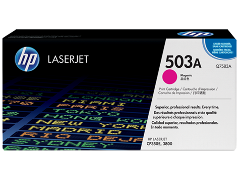 HP color Laserjet Cartridge HP 503A series