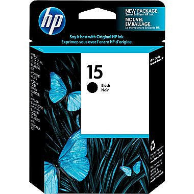 HP Inkjet Cartridge No. 15, Black