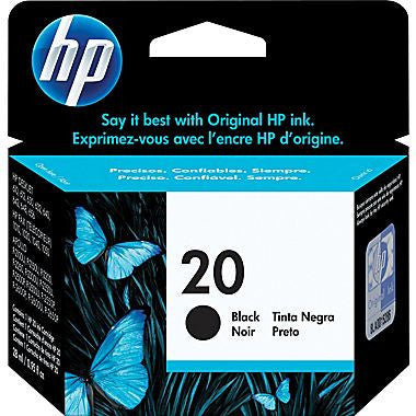 HP Inkjet Cartridge No. 20, Black