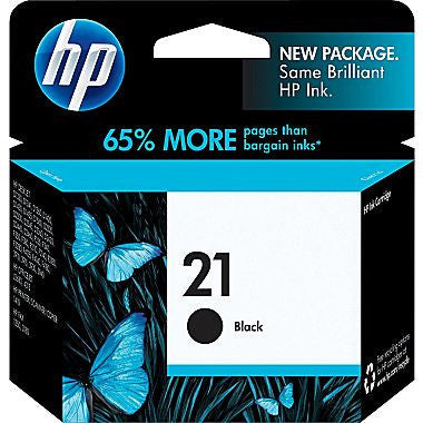 HP Inkjet Cartridge No. 21, 9351AN Black