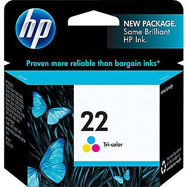 HP Inkjet Cartridge No. 22, 9352AN Tri-Color