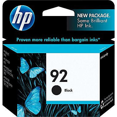 HP Inkjet Cartridge No. 92, Black