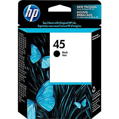 HP Inkjet Cartridge No. 45, black