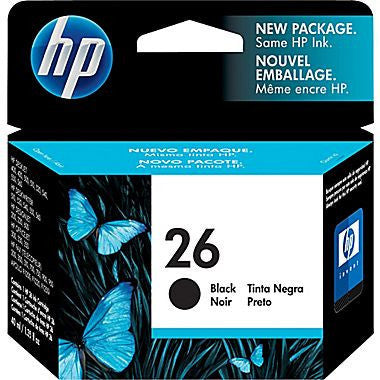 HP Inkjet Cartridge No. 26, Black