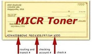 MICR toner laserjet cartridge for secure checking