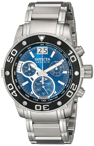 Invicta Men's 10588 Ocean Reef Reserve Chronograph Blue Dial Stainless Steel Watch