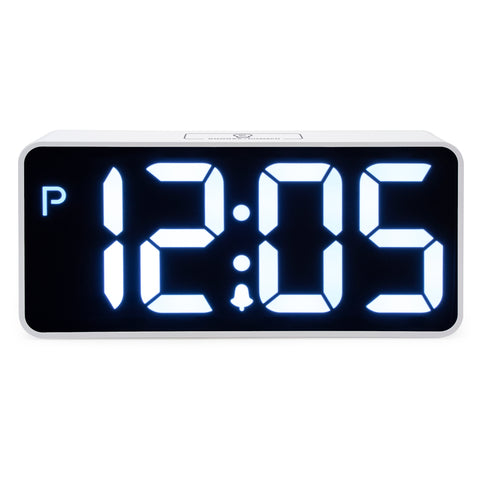 "Easy to Read 8.9"" Jumbo LED Display Digital Desk Alarm Clock"