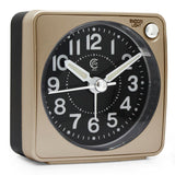 Ultra Small Portable Pocket Size Non Ticking Analog Quartz Travel Alarm Clock