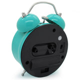 turquoise retro silent alarm clock battery powered