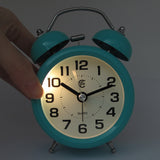 turquoise silent alarm clock with night light