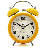 yellow retro easy to use quartz alarm clock