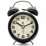 Black simple analogue loud bell alarm clock