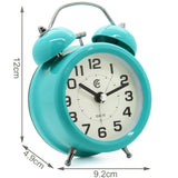 turquoise 3 inch small retro desk alarm clock