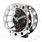 Modern Decoration Moving Gear Wheel Desk Desktop Clock