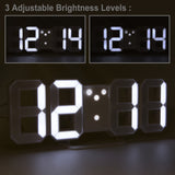 brightness adjustable led desk clock