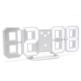 white large number led wall clock