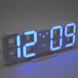 blue easy to read led decorative desk clock