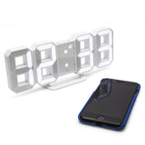 white led mains powered desk alarm clock