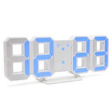 blue large number led digital alarm clock