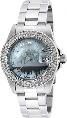 Invicta 90288 Ladies Angel Silver Tone Steel Bracelet Watch