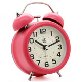hot pink non ticking easy to use alarm clock battery powered