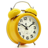 yellow decorative twin bell quartz alarm clock