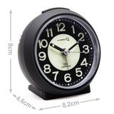 mini travel non ticking quartz bedside alarm clock