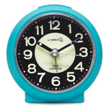 blue luminous travel non ticking alarm clock