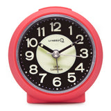 hot pink luminous non ticking travel alarm clock