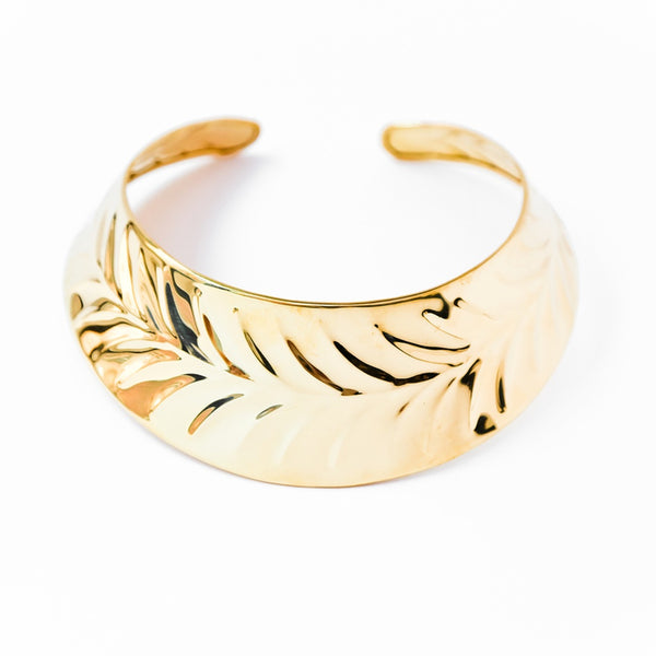 Leaf Collar Necklace-Women - Jewelry - Necklaces-BISJOUX-The Luxury Upgrade